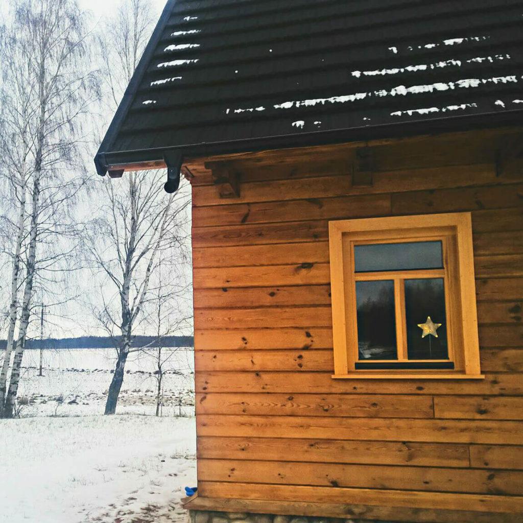 Czarna Hańcza noclegi w pięknym drewnianym domku