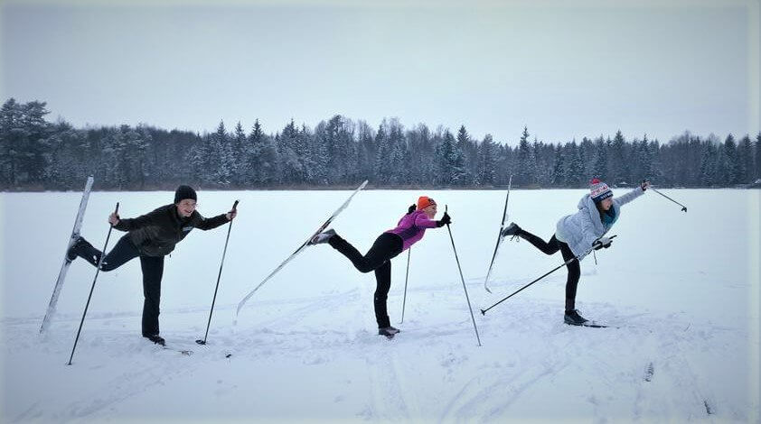 Jazda na nartach biegowych zimą